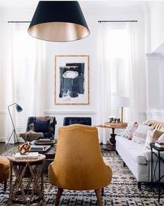 Living room - mustard yellow accent chair