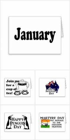 January Holidays - Some popular and lesser known events that occur during the month of January. #TodaysEvent #Gravityx9 #Zazzle