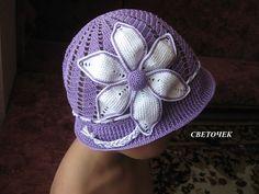 Fialový klobouček | Háčkování