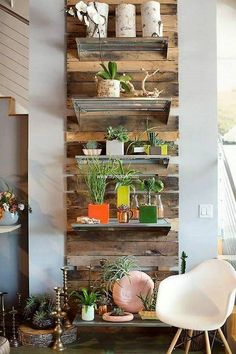 pallet wall decor shelving