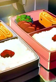 Food Wallpaper, Anime Wallpaper Live, Anime Scenery Wallpaper, Aesthetic Food, Aesthetic Anime, Anime Bento, Anime Gifs, Japon Illustration, Food Drawing