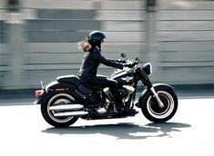 Women ride Harleys.