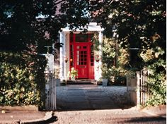 Perfect entry with red door!