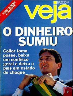 Fernando Collor de Mello, ex-president of Brazil. Revista Veja, Editora Abril, March 1990