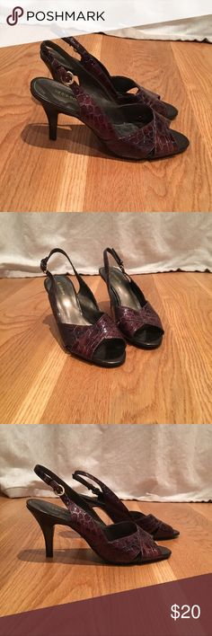 LIZ CLAIBORNE Brown Heels Beautiful brown strap heels! Perfect for the office or weekend! EUC Liz Claiborne Shoes Heels