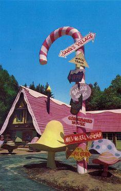 Giant Candy Cane Santa's Village Skyforest CA by mod*mom, via Flickr
