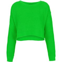 TOPSHOP Knitted Textured Stitch Crop Jumper ($60) ❤ liked on Polyvore