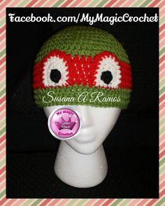 Teenage mutant Ninja Turtles Crochet Hat, https://www.etsy.com/your/shops/MyMagicCrochetUS