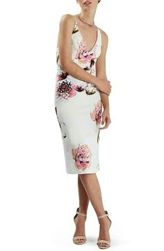 2de4470c902 White Midi Dress, Floral Midi Dress, Floral Dresses, Dresses Dresses, Party  Dresses