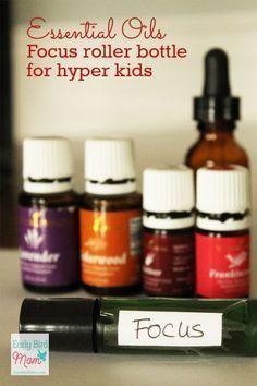 Esesential Oil Focus roller bottle for hyper kids