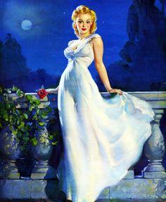 """""""Dream Girl"""" by Gil Elvgren (1945)"""