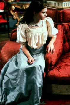 "Lucy Honeychurch (Helena Bonham Carter) in ""A Room with a View""."