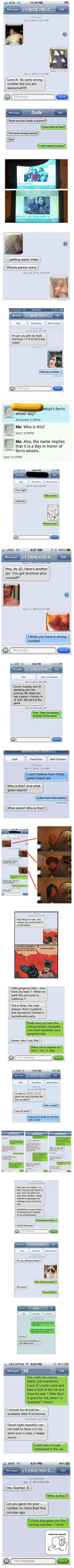 Here are some strange and funny text messages that were sent to the wrong number.