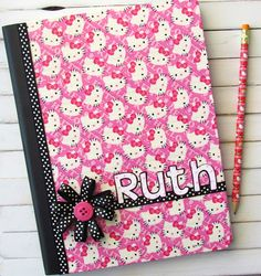 Recovered notebook using Hello Kitty Duct Tape