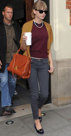 Taylor Swift was photographed in the Gina Geelong Peter Jumper as she was leaving a studio in West London.