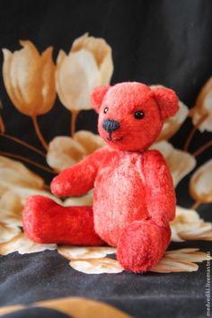 Мишка Фридрих - миник,мини мишка,красный мишка,мишка тедди,Маленький мишка
