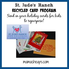MamaCheaps.com: St. Jude's Ranch for Kids Recycled Card Program – Send Your Cards!