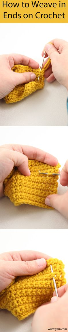 How to Weave in Ends on Crochet •*¨`*•✿Teresa Restegui http://www.pinterest.com/teretegui/✿•*¨`*•