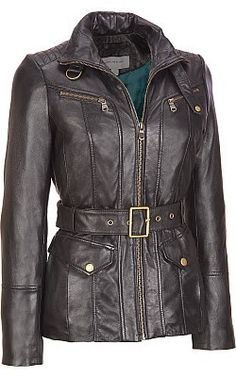 6618382b8364 Marc New York Washed Leather Belted Jacket - Wilsons Leather