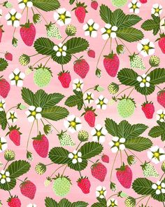 #strawberry #strawberries #lafraise #fraise #surtex #surtex2016 #surfacedesign #surfacedesigner #garden #paint #painting by anisamakhoul