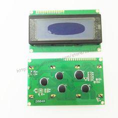1 sztuk 2004 20x4 Znaków LCD Kontroler Moduł Wyświetlacza HD44780 niebieski podświetlenie ekranu LCD