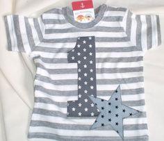 """Geburtstagsshirt """"1 + Stern"""" von TiLis Pinnaupiraten auf DaWanda.com"""