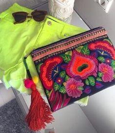 Cartera Mexican style 100%