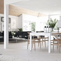 Scandinavian Style Home - Stylizimo House_Living room Home Living Room, Apartment Living, Living Room Designs, Living Spaces, Living Room Inspiration, Interior Design Inspiration, Scandinavian Style Home, Scandinavian Interior, By Lassen
