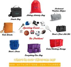 Football, base ball, soccer, soft ball!! There\'s a bag for that! www.mythirtyone.c...