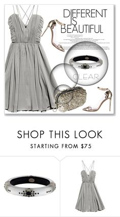 """It's All Clear Now"" by andrejae ❤ liked on Polyvore featuring Alexis Bittar, H&M, Nicholas Kirkwood, clear and Seethru"
