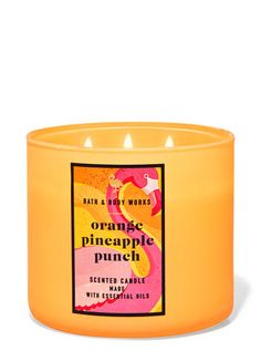 Coffee Table Candles, Bath Candles, 3 Wick Candles, Scented Candles, Candle Jars, Pineapple Punch, Natural Essential Oils, Candle Making, Bath And Body Works