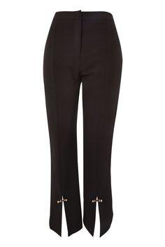 Stud Hem Kick Flare Cropped Trousers | Topshop