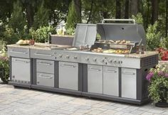 Ways To Choose New Cooking Area Countertops When Kitchen Renovation – Outdoor Kitchen Designs Basic Kitchen, Kitchen Sets, New Kitchen, Modular Outdoor Kitchens, Outdoor Kitchen Design, Kitchen Modular, Home Design, Interior Design, Outdoor Kitchen Countertops