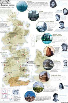 Es fácil perderse en la geografía de Poniente y Essos. Te ayudamos a ubicar los Siete Reinos y las Ciudades Libres