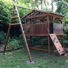 Spielturm und Klettergerüst selber bauen