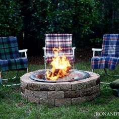 how to install patio pavers and a fire pit