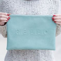 'HELLO' Conversation Clutch by Sole Society