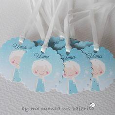Etiquetas de cumpleaños de la princesa Elsa, Frozen, Disney