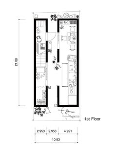 Image 17 of 21 from gallery of A Life With Large Opening / ON design partners. First Floor Plan