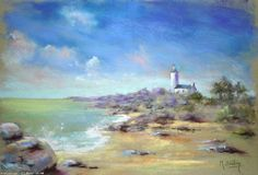 Artwork >> Breton Michel >> Phare de Brignogan Michel, Lighthouse, Beaches, Artworks, Artists, Water, Painting, Canvas Art, Water Colors