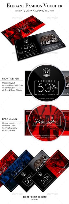 Elegant Fashion Voucher - PSD Template • Only available here ➝ http://graphicriver.net/item/elegant-fashion-voucher/11935472?ref=pxcr