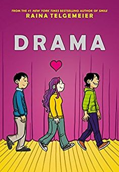 Drama, by Raina Telgemeier. This Stonewall Honor Award-winning graphic novel charts the highs, lows and above all, drama of a group of children putting on a middle school play. Good Books, Books To Read, My Books, Library Books, Library Ideas, Broadway, New York Times, Drame, Romance
