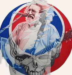 Jerry Garcia (Grateful Dead) was considered both a god and a household decorating item Rock N Roll, Grateful Dead Wallpaper, John Garcia, Get Down On It, Grateful Dead Image, Dead And Company, Punk, Forever Grateful, Fine Art America