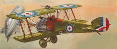 WWI Aviation books cover art.Here's a depiction of Culley's Camel doing what it became famous for:16