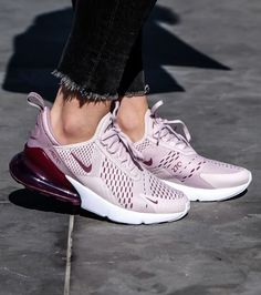 4b21a235de 2018 Nike Air Max 270 Women's Shoe in a Barely Rose colour. Stylish Nike sne