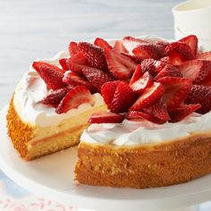 The perfect dessert recipe for when you can't decide between strawberry shortcake and cheesecake ;)