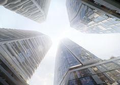Gallery of UNStudio Reveals New Renderings of Massive Frankfurt Skyscraper Development - 7