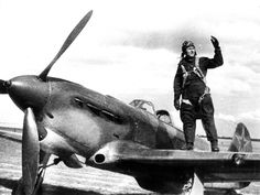 A Russian Yak-1B fighter and it's pilot.