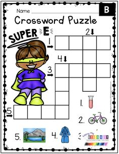 SUPER E LESSONS KINDERGARTEN - magic e - silent e - anchor charts - cut and paste - fine motor - worksheets - printables - student charts - detectives - bubbles - missing super words - mini books - morning work - center work - literacy centers - whole group - small group - guided reading - sentences - story comprehension #kindergartenfluency #kindergartenreading Word Work Centers, Literacy Centers, Long I Words, Cvce Words, Phonics Worksheets, Cute Stories, Kindergarten Reading, Morning Work, Group Activities