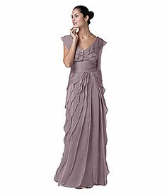 Adrianna Papell Tiered Gown #Dillards